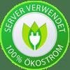 Server verwendet 100% Ökostrom.