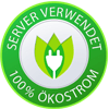 Server verwendet 100% Ökostrom