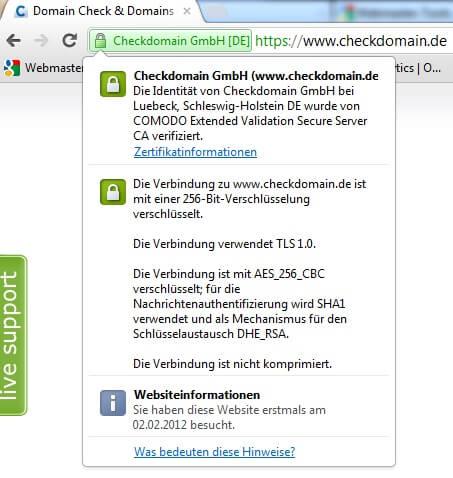 SSL HTTPS Adresszeile