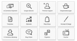 Bitte auswählen: xt:Commerce bietet eine Vielzahl als Features für Shopbetreiber