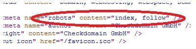 Blockt meta-name robots google?