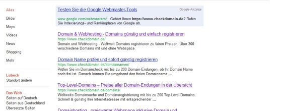 site-abfrage bei google