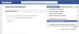 Impressum für Facebook einrichten