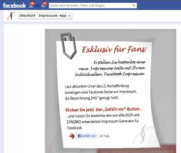 Facebook Impressum Generator