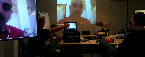 Skypevortrag via Skype auf der PHPUGHH