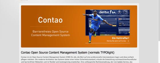 Internetseite von Contao