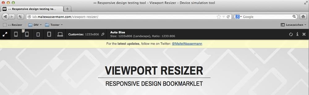 Toolbar Vieport Reziser