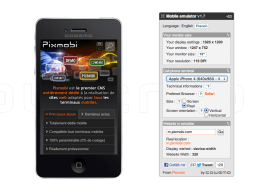Mobile Phone Emulator Eingabemaske