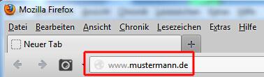 Aufrufen der Domains über den Browser