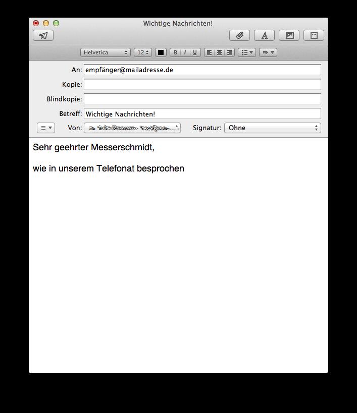 Eine E-Mail