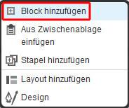 Einen neuen Block in Concrete5 hinzufuegen