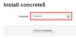 Concrete5 Sprachauswahl 1