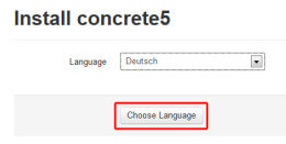 Concrete5 Sprachauswahl 2
