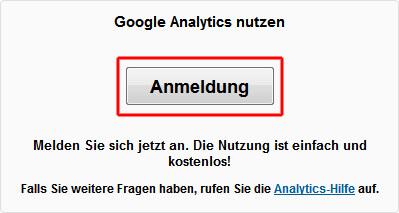 Google Analytics nutzen..