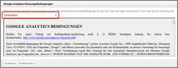 Google Analytics Nutzungsbedingungen