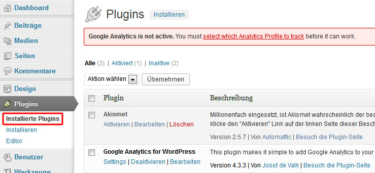 Google Analytics in WordPress aktivieren