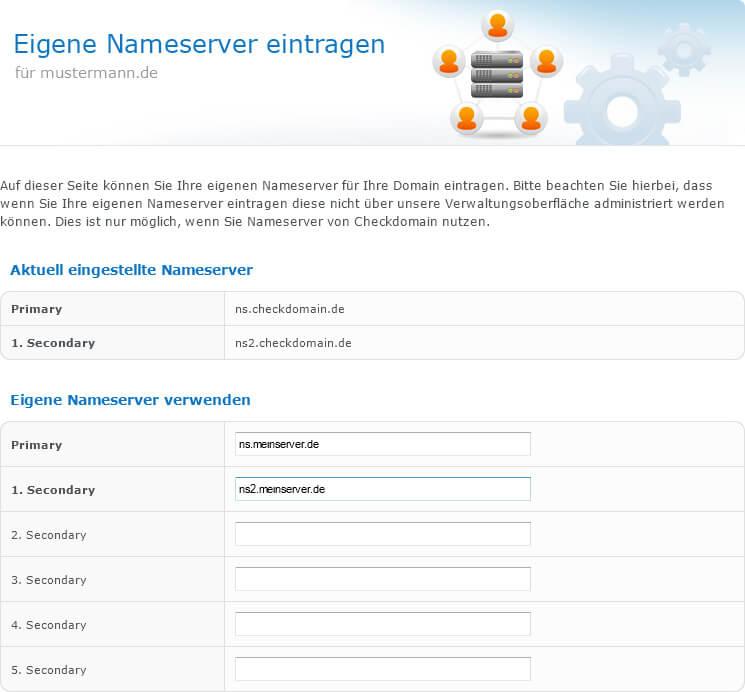 Eigene Nameserver im checkdomain-Kundenbereich hinterlegen