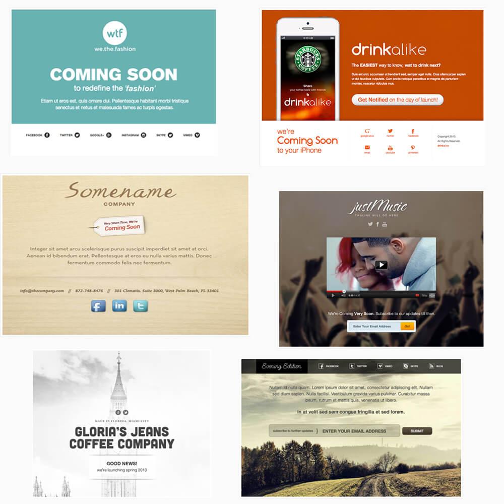 Beispiele für Vorlagen von Web/Success/In