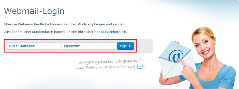 Der neue Webmail-Login
