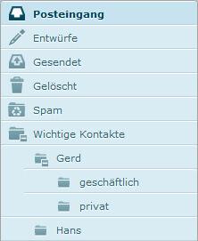 Unterordner im Webmail verwalten