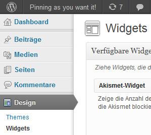 Pinterest Widget in der Seitenleiste einbinden