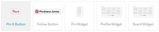 Pin-it, Follow Button und mehr