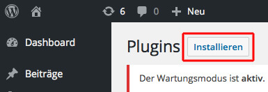 WordPress - Plugin installieren