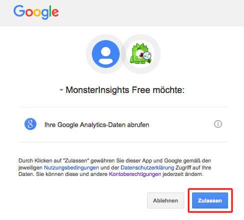 Google Analytics Daten abrufen