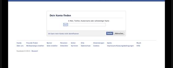 Identifizierung auf Facebook
