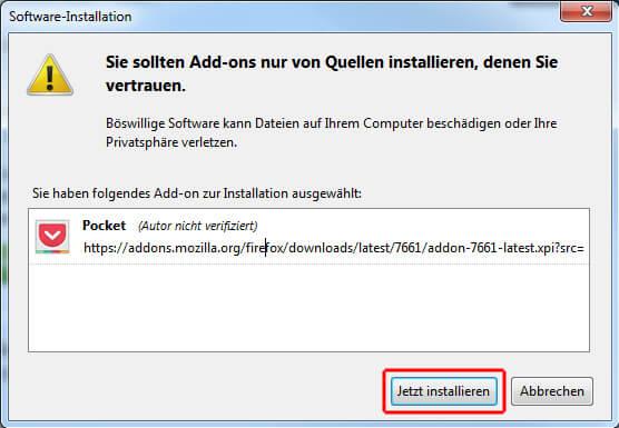 Pocket - Jetzt in Firefox installieren