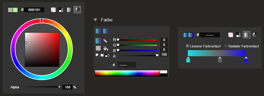 Google Web Designer: Farb-Tools
