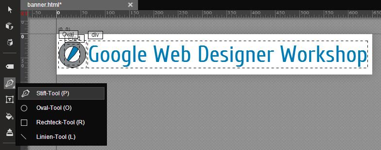 Google Web Designer - Pen Tool
