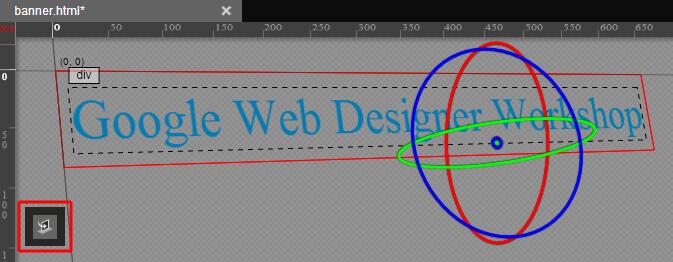 Google Web Designer- 3D Tool für Texte verwenden