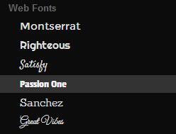 Google Web Designer - Web Fonts