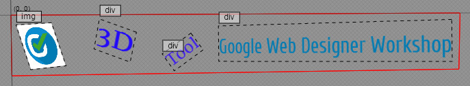 Google Web Designer - Nach der 3D Bearbeitung