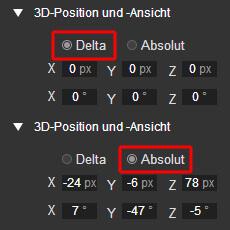 Google Web Designer - Delta- und Absolute Werte