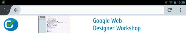 Google Web Designer - Banner Tablet Ansicht