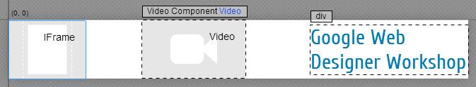 Google Web Designer - Komponente hinzufügen
