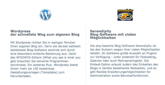 WordPress und Serendipity gehören zu den weltweit beliebtesten Blog-Anwendungen.