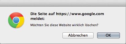 website aus webmastertool löschen