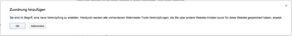 Google Webmastertool mit Google Analytics verbinden