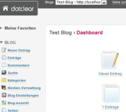 Ansprechende Optik, einfach Bedienbarkeit: die aus Frankreich stammende Blog-Software Dotclear.