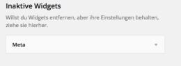 """Zwischenstation: Widgets können im Bereich """"inaktive Widgets"""" abgelegt werden."""