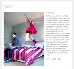 Selbstporträt mal anders: Die About-Seite von Bri Emery vom Blog designlovefest.com.