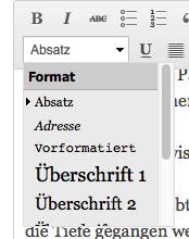 """Im checkdomain-Blog verwenden wir für Zwischenüberschriften die """"Überschrift 2""""."""