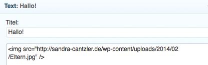HTML für Einsteiger: Die kopierte URL findet sich zwischen den beiden Anführungszeichen wieder.