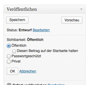 Mit der Sticky-Post-Funktion kannst Du Favoriten auf der Startseite oben halten. Screenshot: S. Cantzler