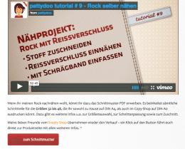 Einmal als Video, einmal als Schritt-für-Schritt-Anleitung mit vielen Fotos: Wie die Verzahnung von bewegten Bildern und Text optimal funktioniert, zeigt Ina vom pattydoo-Blog. Screenshot: pattydoo.de