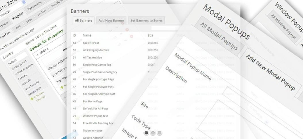 Für WordPress-Blogs gibt es diverse Plugins, die Euch die Verwaltung Eurer Werbeplätze erleichtern - zum Beispiel das kostenpflichtige Programm WP Ad Guru. Screenshot: WP Ad Guru