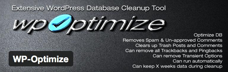 Plugins wie WP-Optimize helfen WordPress-Nutzern, ihre Datenbank automatisch von Datenmüll zu befreien. Screenshot: WP-Optimize